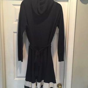 Vineyard vines navy blue wool sweater dress
